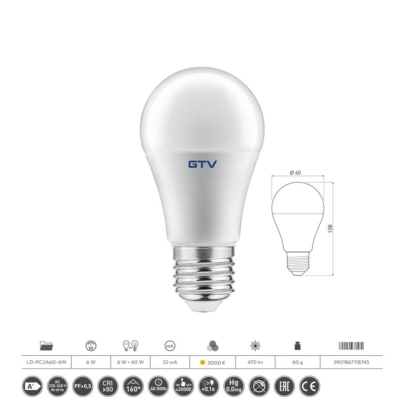 Slika LED SIJALICA E27 A60  6W