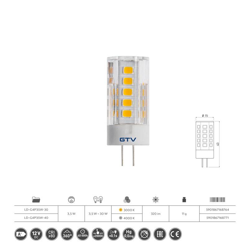 Slika LED SIJALIC G4 3.5W 3000K