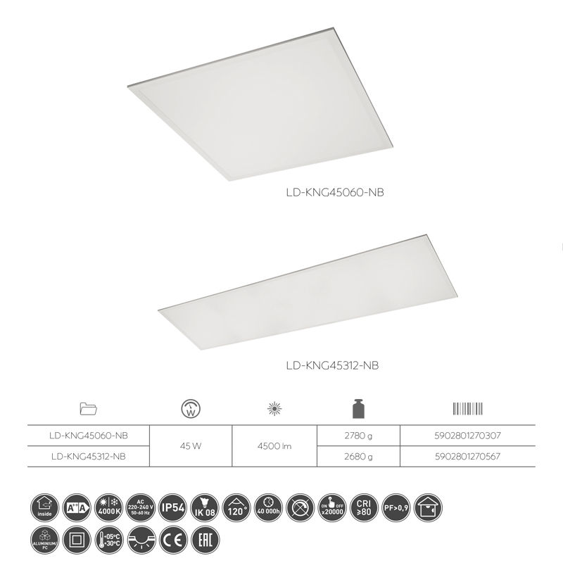 Slika LED PANEL KING  60x60 24W 4000K