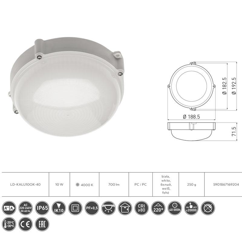 Slika LED BRODSKA LAMPA OKRUGLA 10W 4000K