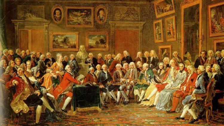صالون فرنسي في عصر التنوير للنقاش العام