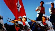 مشهد من باليه «الكتيبة النسائية الحمراء»