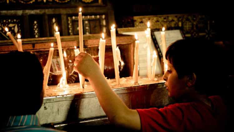 طفل مسيحي مصري، الفسطاط، القاهرة