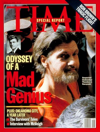 صورة تيد كازينسكي على غلاف مجلة تايم