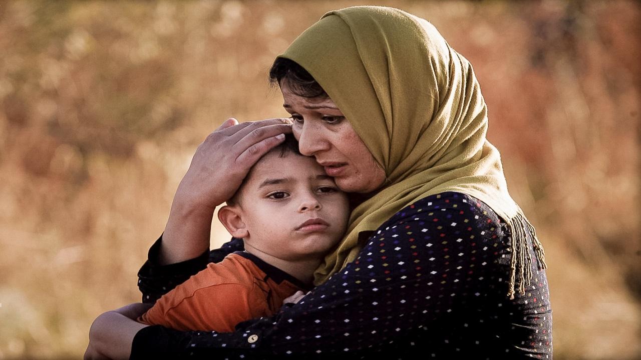 لاجئة سورية, أم سورية, طفل