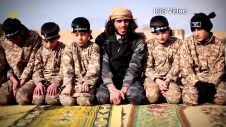 داعش, تربية, أطفال داعش, تجنيد الأطفال
