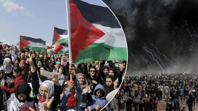 مسيرات العودة الكبرى, غزة, فلسطين,
