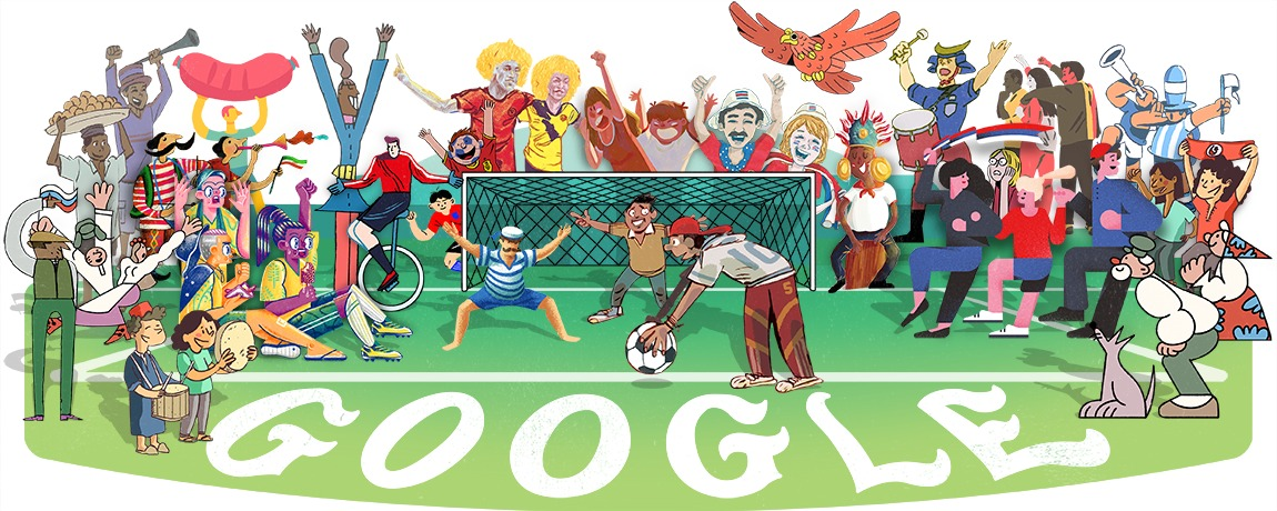 google doodle, دودلز, جوجل, كأس العالم 2018
