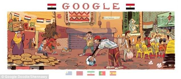 google doodle, دودلز, جوجل, مصر, كأس العالم 2018