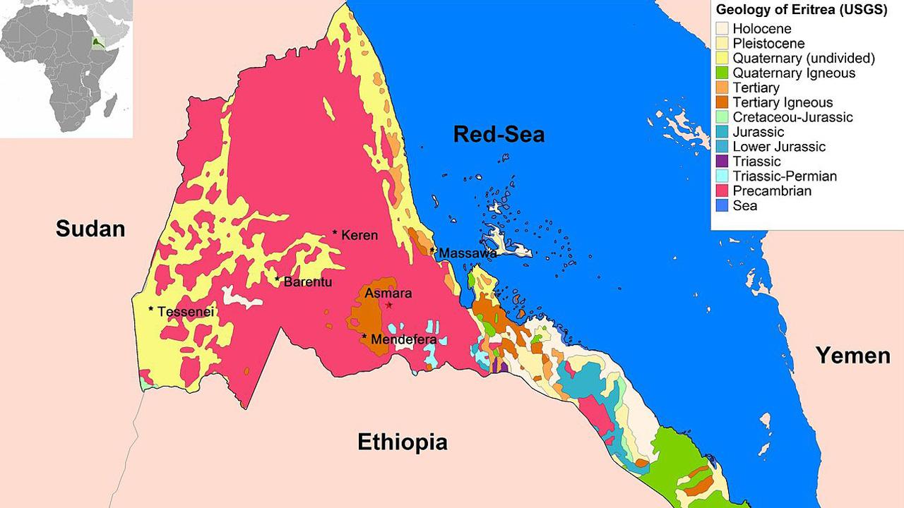 إريتريا, تاريخ, إفريقيا, خريطة إريتريا