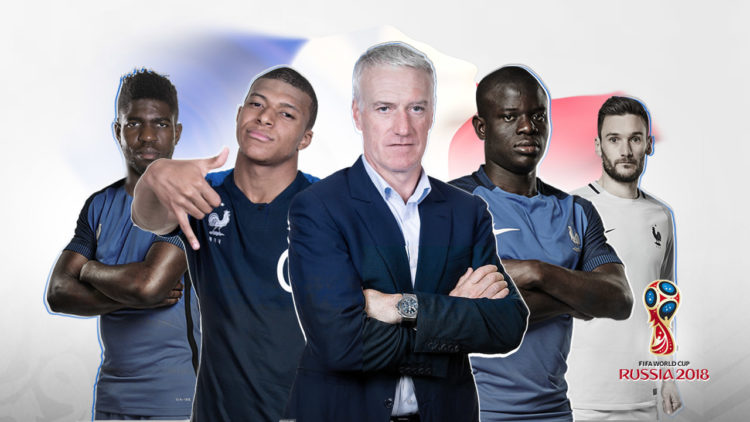 منتخب فرنسا، كيليان مبابي، كأس العالم، صامويل أومتيتي، نجولو كانتي، ديشامب، هوجو لوريس