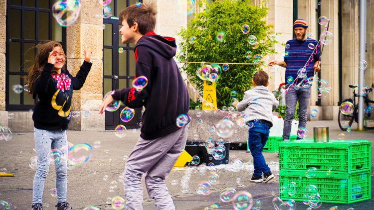 أطفال, لعب, تربية, منهج والدورف