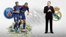 ريال مدريد، باريس سان جيرمان، نيمار، كيليان مبابي، فلورنتينو بيريز