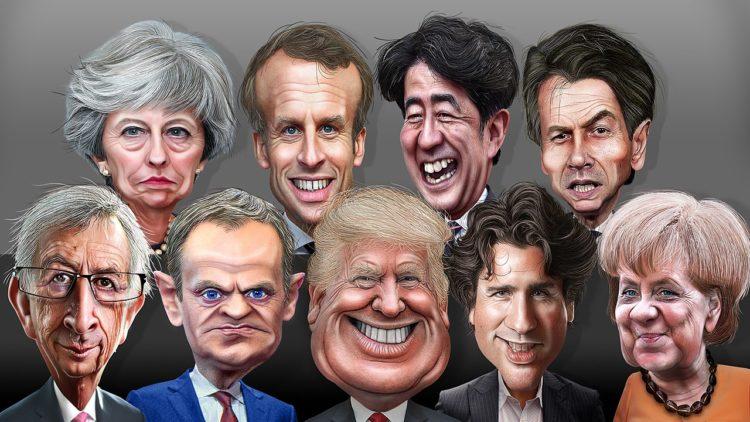 دونالد ترامب، رؤساء مجموعة السبعة الكبار