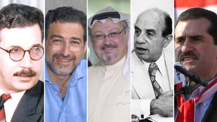 صحفيين, جبران تويني, سليم اللوزي, جمال خاشقجي, سمير قصير, رضا هلال