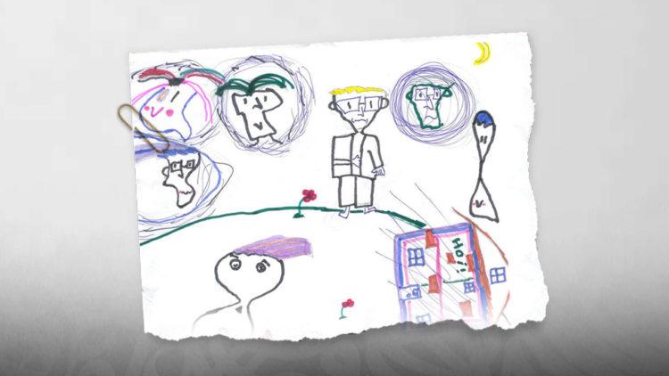رسومات أطفال، غضب، طفل، فن