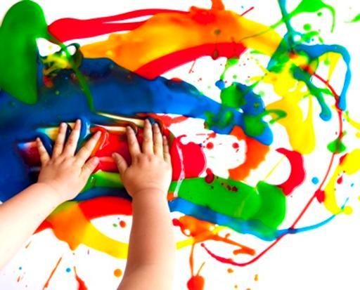 غضب، طفل، فن، رسم، تلوين، أصابع