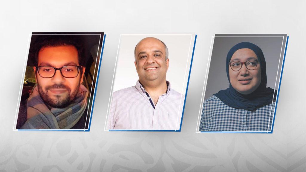 دعاء عارف وأحمد جلال وأحمد المالكي