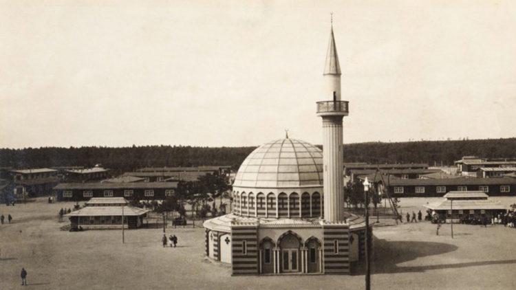 مسجد معسكر نصف القمر, ألمانيا, الجهاد, أسرى, الحرب العالمية الأولى