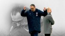 ماوريسيو ساري، بيب جوارديولا، الدوري الإنجليزي الممتاز، تشيلسي، مانشستر سيتي
