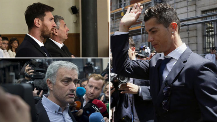 كريستيانو رونالدو, ليونيل ميسي, جوزيه مورينيو, الضرائب, التهرب الضريبي