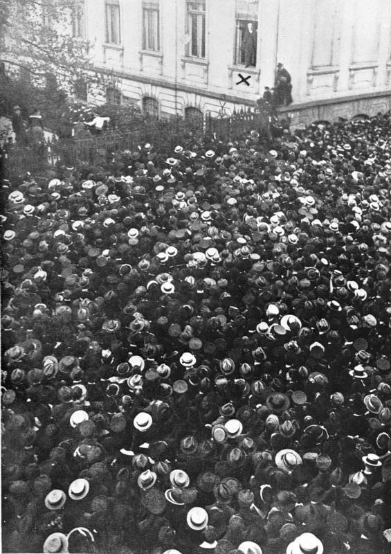 فيليب شيدمان يعلن قيام جمهورية فايمار