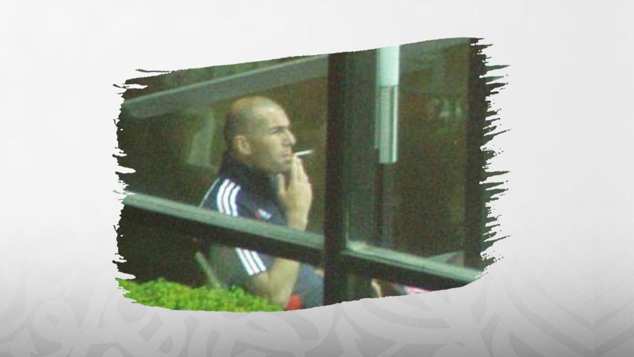 كرة القدم, التدخين, زين الدين زيدان, مونديال ألمانيا