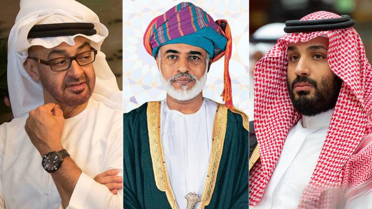محمد بن سلمان، محمد بن زايد، السطان قابوس، السعودية، الإمارات، عمان