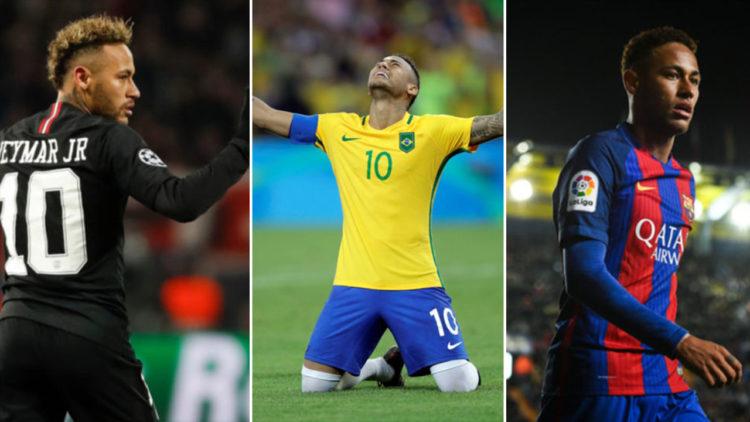 نيمار داسيلفا, منتخب البرازيل, برشلونة, باريس سان جيرمان