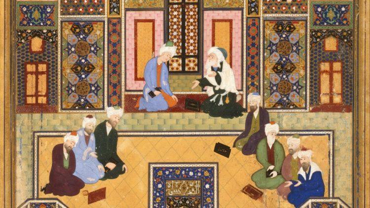 لوحة اجتماع المتكلمين, مذاهب, المعتزلة, لوحات فنية, تراث, فكر إسلامي