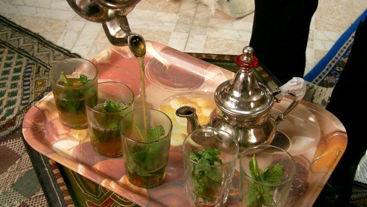 الصينية, شاي, نعناع, المغرب, كرم الضيافة