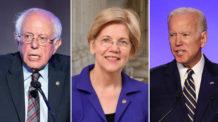 جو بايدن, إليزابيث وارن, وبيرني ساندرز, الولايات المتحدة الأمريكية, ترامب, سياسة