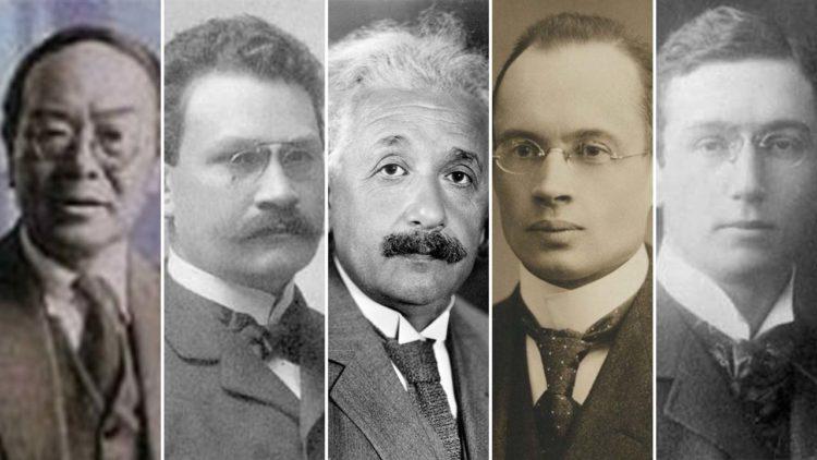 ماكس أبراهام، جونار نوردشترم، آلبرت آينشتاين، هيرمان منكوفسكي، جن إيشيوارا