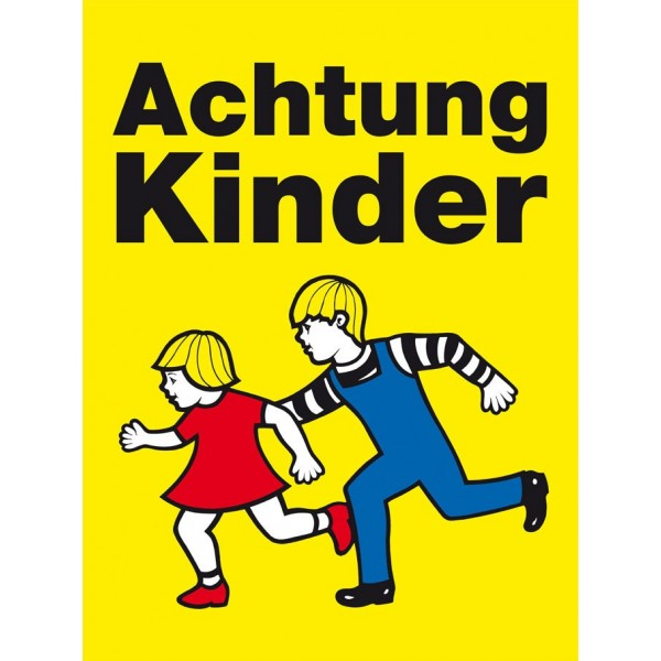 """Verkehrstafel """"Achtung Kinder"""""""