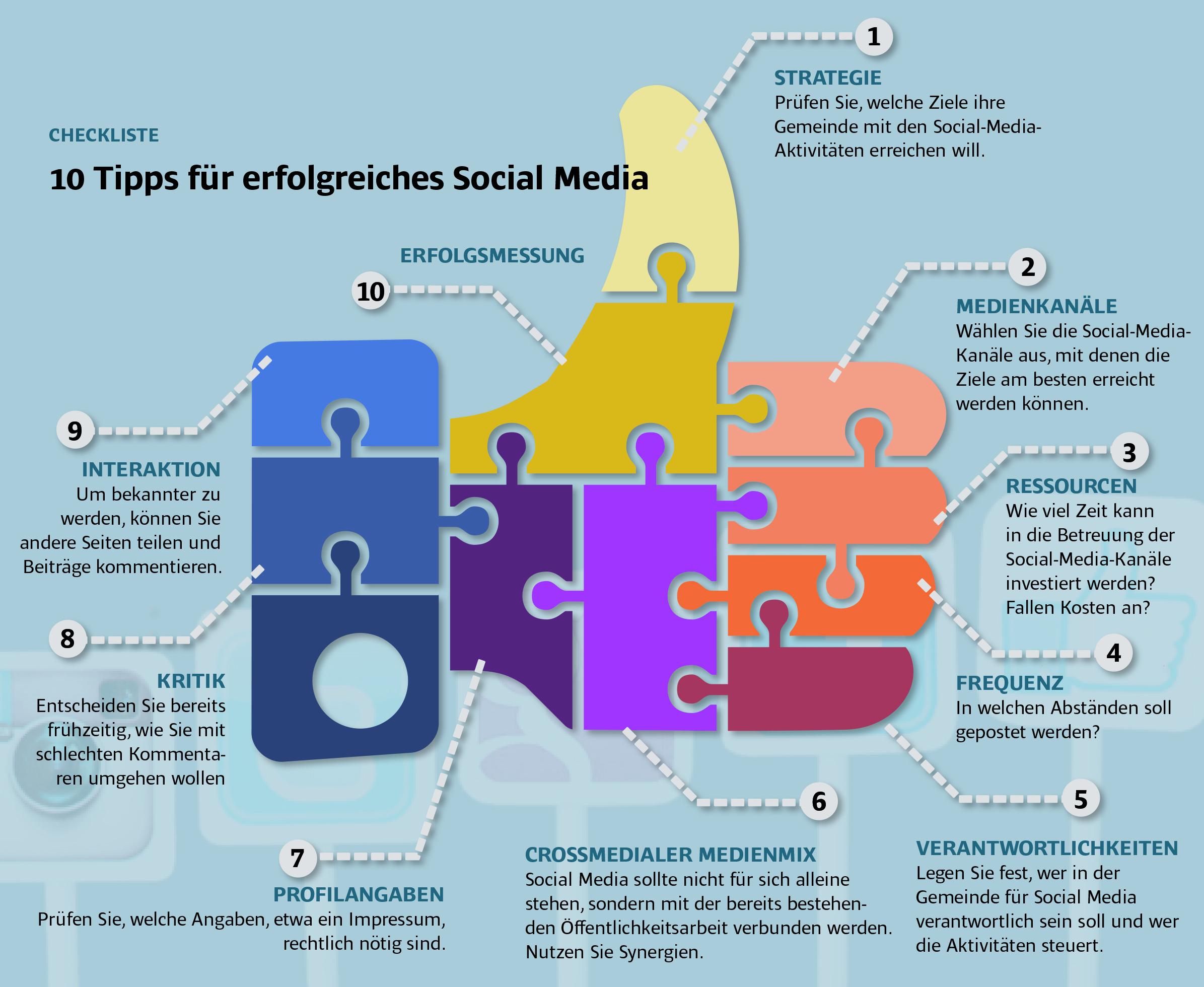 Tipps für Social media
