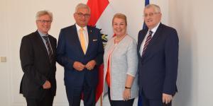 Antrittsbesuch der Gemeindebund-Spitzen bei der Sozialministerin