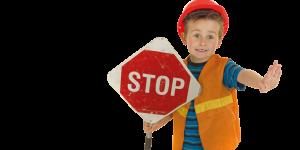 Kind mit Stopptafel