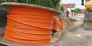 Kabelrolle für Internetausbau