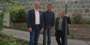 Roland Wohlmuth (Brunnenthal), Landesrat Rudi Anschober und Heribert Kaineder