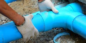 Wasserrohr wird verlegt