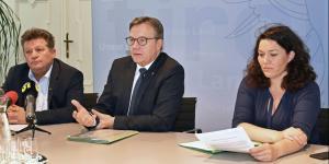 Ernst Schöpf, Günther Platter und Ingrid Felipe