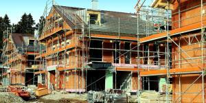 Neu errichtete Häuser