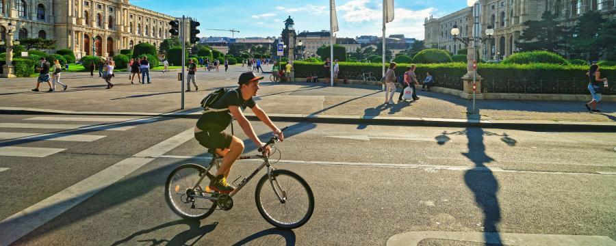Radfahrer in Wien