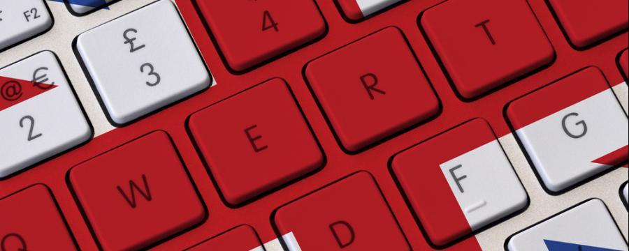 Union Jack auf Computertastatur