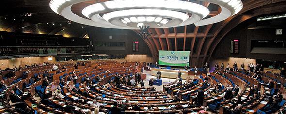Plenarsaal des Euoparates