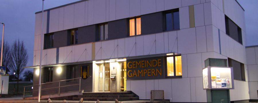 Das thermisch sanierte Gemeindeamt in Gampern