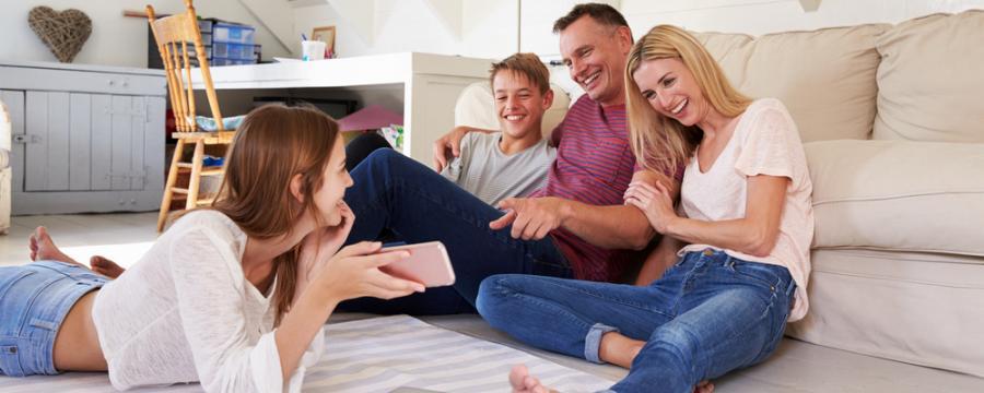 Familie mit Jugendlichen