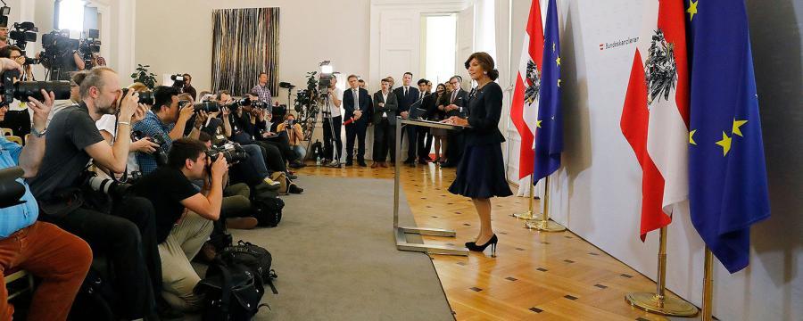 Antrittspressekonferenz Brigitte Bierlein | Übergangsregierung