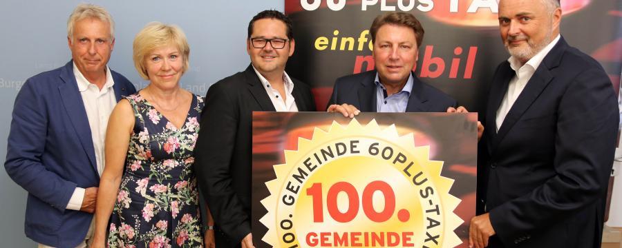 """Wimpassing an der Leitha ist 100.  """"60plusTaxi""""-Gemeinde"""
