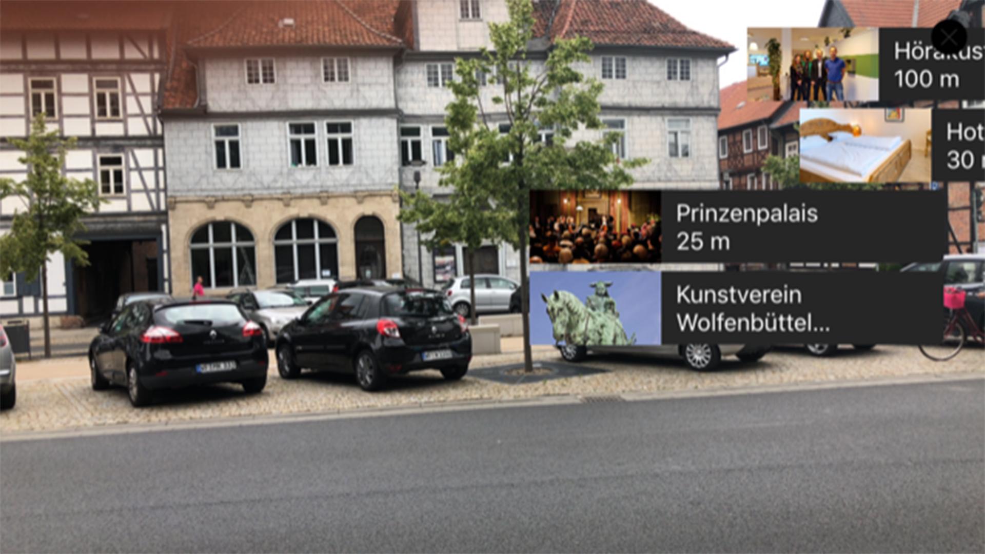 Die Welt in Wolfenbüttel durch die AR gesehen.